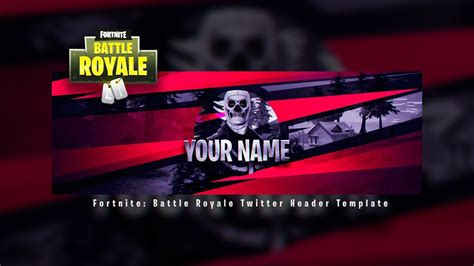 New Fortnite Battle Royale Header Template Fortnite Twitter Template Free Psd Youtube Fortnite Logo Template