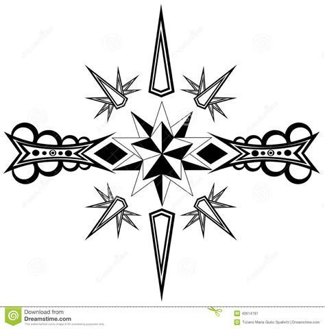 imagenes de aztecas blanco y negro tatuaje de la estrella en blanco y negro ilustraci 243 n del