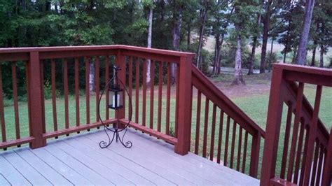 deck restoration using rustoleum s restore in color winchester rails in sherwin williams cider