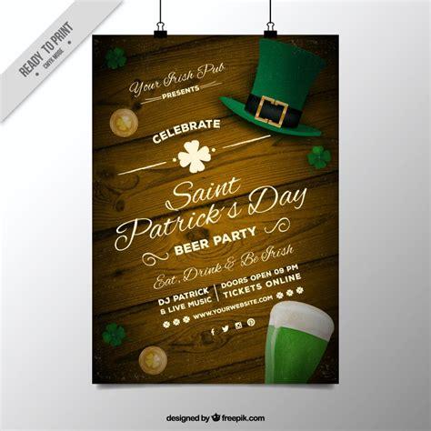st patrick s day flyer psd template on behance