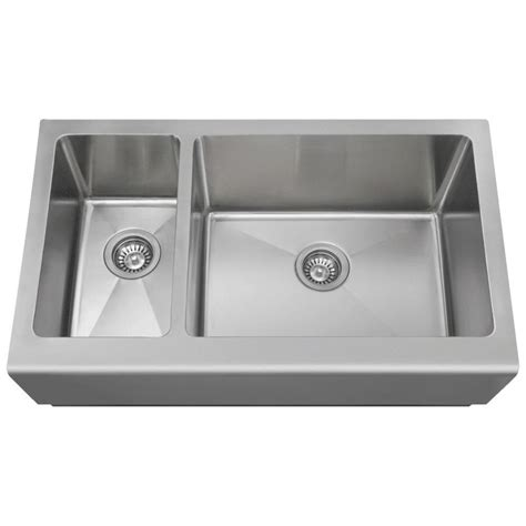 mr direct farmhouse apron front stainless steel 33 in