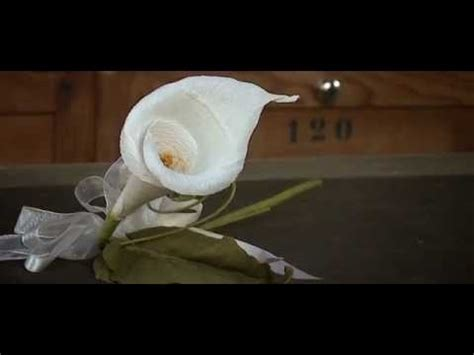 How To Make Lilies Out Of Paper - fiori di carta crespa crepe paper flowers calla by