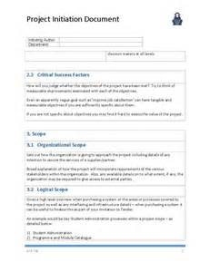 document templates project initiation document template ape project management