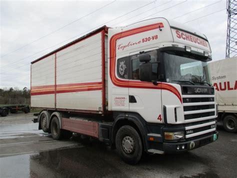 scania 144 530 v8 2 seiten hackschnitzelkipper box truck