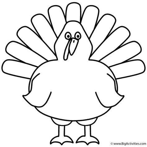 printable turkey for preschool turkey coloring page thanksgiving