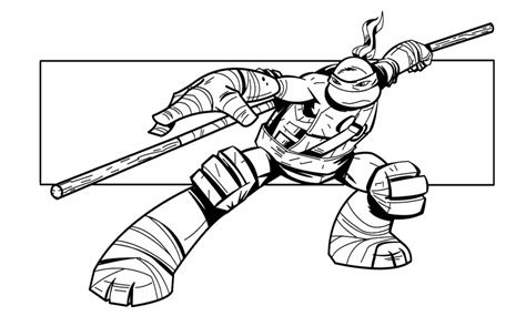 ninja turtle head colouring pages