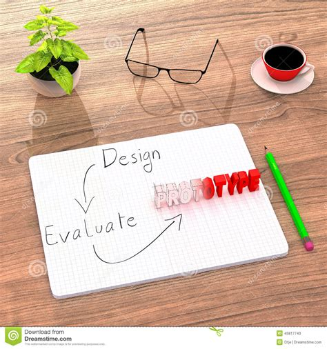 The Illustrations Below Show How Coffee Is Sometimes Produce Testbig by Proof Of Concept From Design Sketching To Real Prototype Stock Illustration Image 45817743