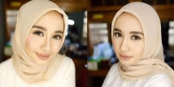 tutorial hijab laudya chintya bella sehari hari rahasia riasan cantik laudya cynthia bella sehari hari