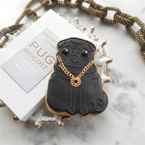 pug with no pug with bling by eat my cake notonthehighstreet