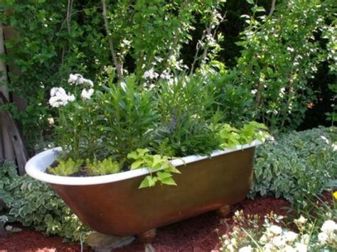 unique planters unique planters this clawfoot tub was from one of our
