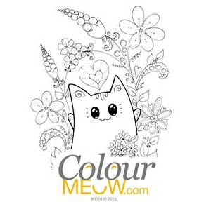colour meow cat colouring pages amp cat drawings adults anti stress cat colouring therapy