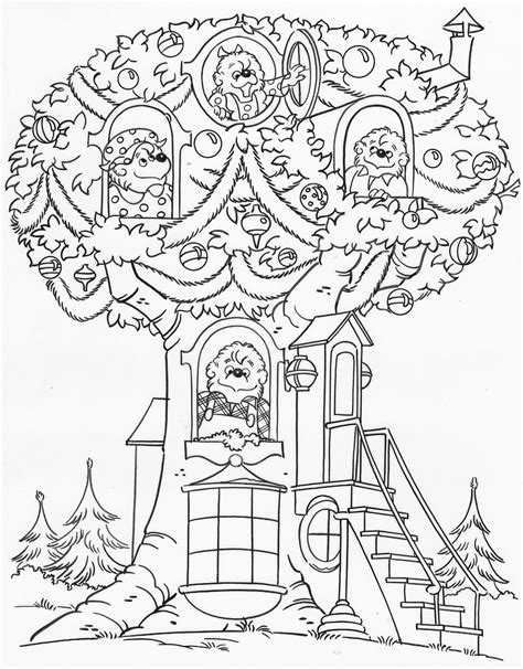 Berenstain Brother Bear Coloring Page Sketch Coloring Page Berenstain Bears Tree Coloring Page