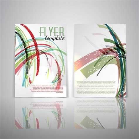 double sided flyer template with abstract design vector