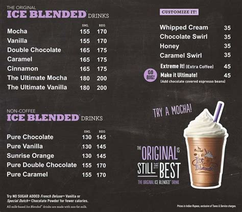 Menu Coffee Bean Indonesia coffee bean tea leaf menu singapore theleaf co
