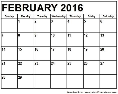 printable monthly planner february 2016 february 2016 printable calendar