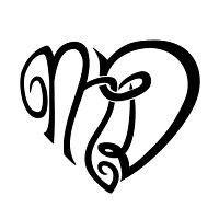 tatuaggi lettere con cuore tatuaggio di cuore con lettere m d unione indissolubile