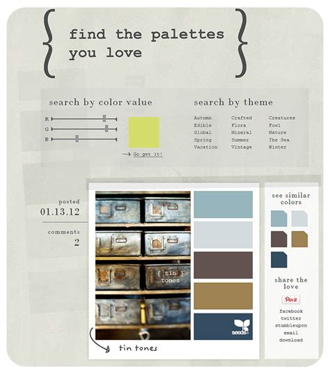 Finding Similarities Between Options And by Bit Shoppe Where To Find Color Inspiration