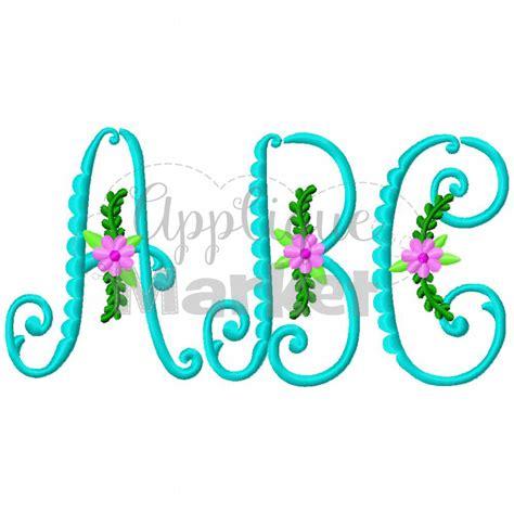 embroidery design monogram vintage flower monogram applique design