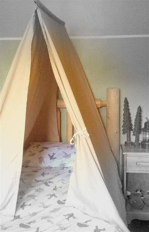 tent over bed twin size bed tent custom kids teepee canopy for boys or