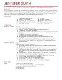 Curriculum Vitae Contents by Chemist Cv Template Science Cv Examples Livecareer