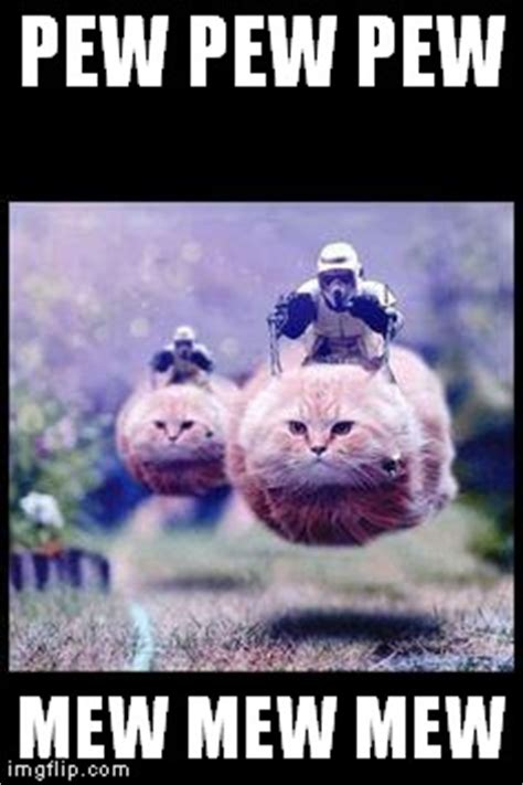Pew Pew Meme - flying cat stormtrooper imgflip