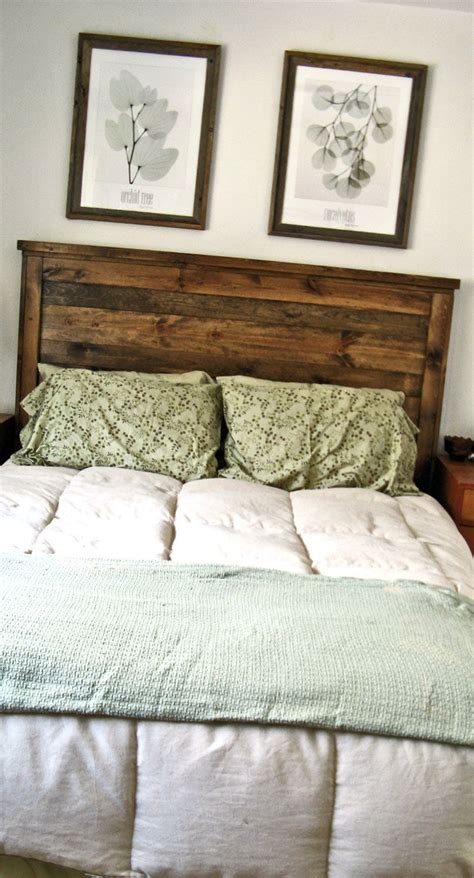 project reclaimed wood  queen headboard diy