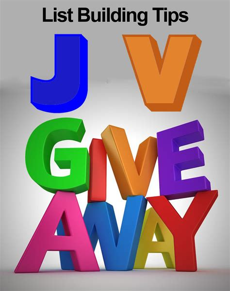 Giveaway List - jv giveaways 5 list building giveaway tips