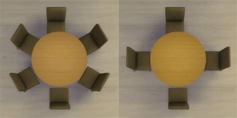Round Dining Room Table by Mod The Sims Modern 6 Seater And 8 Seater Round Dining