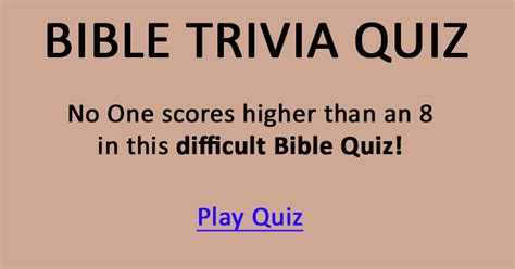 beat  difficult bible trivia quiz