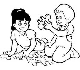 coloring pages play two puzzle while waiting to go back to school