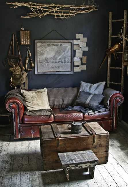 salvage home decor interior design with reclaimed wood and rustic decor in