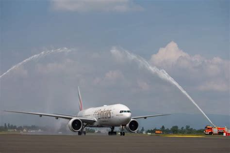 emirates zagreb dubai velika svečanost u zračnu luku franjo tuđman sletio prvi