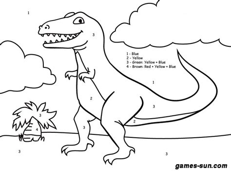 advanced dinosaur coloring pages dinosaur color by number free coloring pages on art