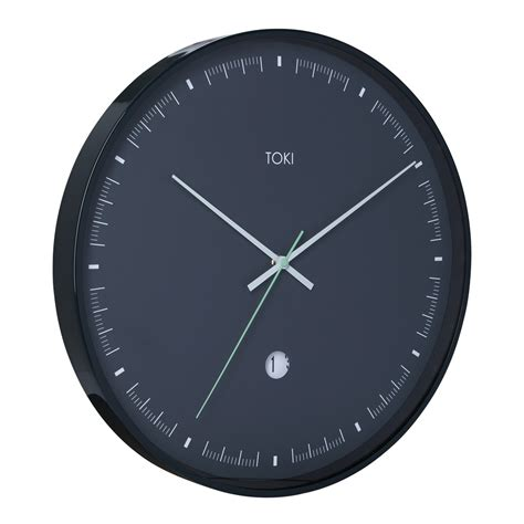 buy luca white 40cm silent wall clock online purely wall clocks buy toki metta charcoal silent sweep wall clock with date