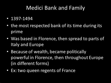 medici bank the renaissance in italy ppt