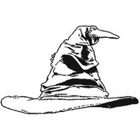 harry potter sorting hat coloring page 1000 images about harry potter colouring pages stencils