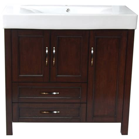 Bathroom Vanity Rona Larissa Vanity With 3 Doors And 2 Drawers Walnut Rona