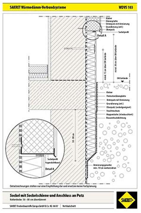 Sockel Richtig Abdichten by Echter H 228 Rtefall Der Sockel Wdvs Fassaden Sakret