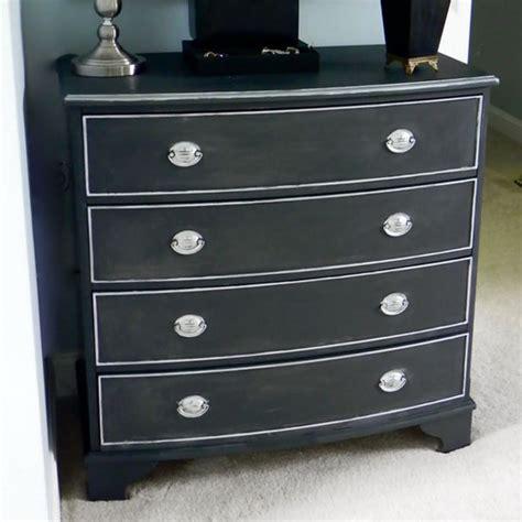 Painted Black Dresser by Painting A Dresser Black Home Furniture Design