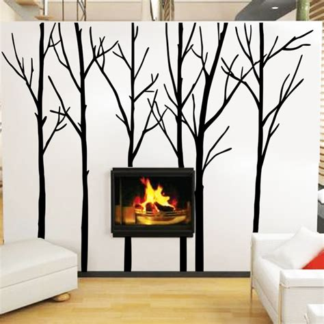 Living Room Wall Decal Tree Cozy Homy Winter Tree Wall Decal Forest Vinyl Wall