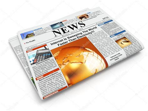 A News Paper - news folded newspaper on white isolated background