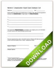 workers compensation report upon employee exit