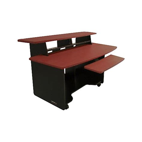 omnirax presto 4 studio desk mahogany guitar center