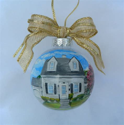 custom house ornament handpainted house christmas ornament
