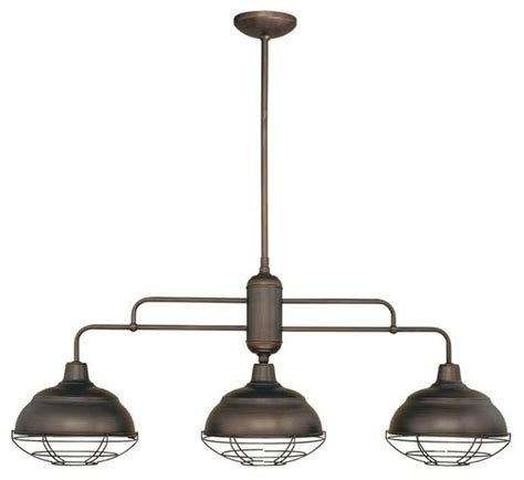 Industrial Style Island Lighting with Millennium Lighting Neo Industrial Island Light