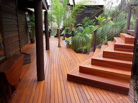 timber stairs deck steps external wa timber decking