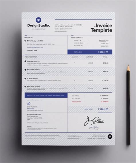 invoice design vector vector professional invoice template 187 nitrogfx download