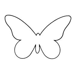 buterfly template butterfly outline printable clipart best
