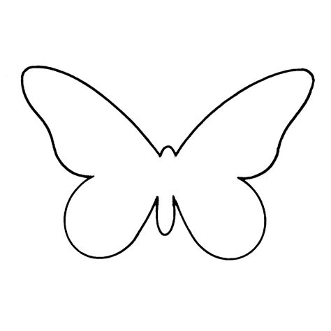 plain butterfly templates clipart best