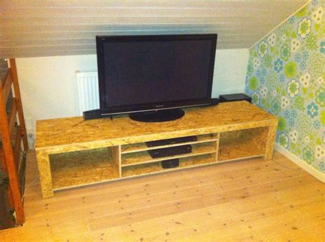tv bench wood diy tv bench or tv table in osb wood console pinterest